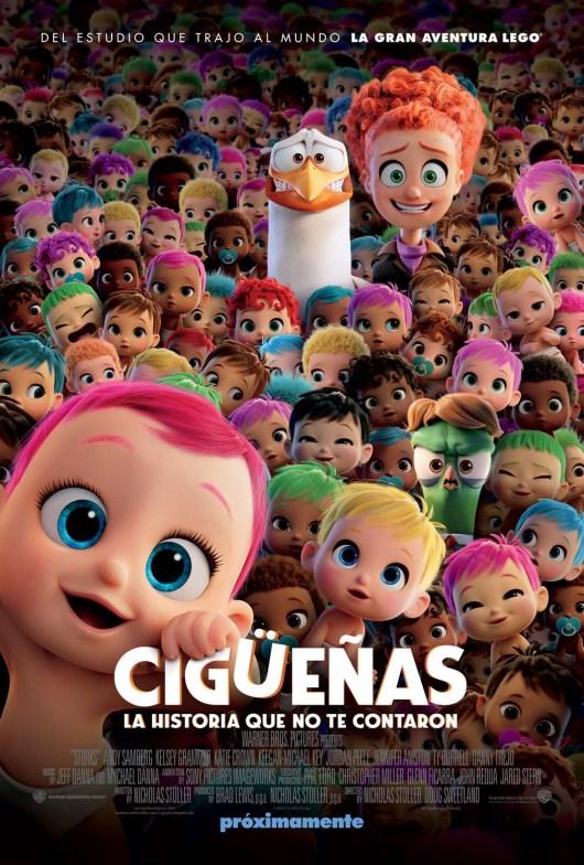 Nuevos pósters de la película animada 'Cigüeñas'