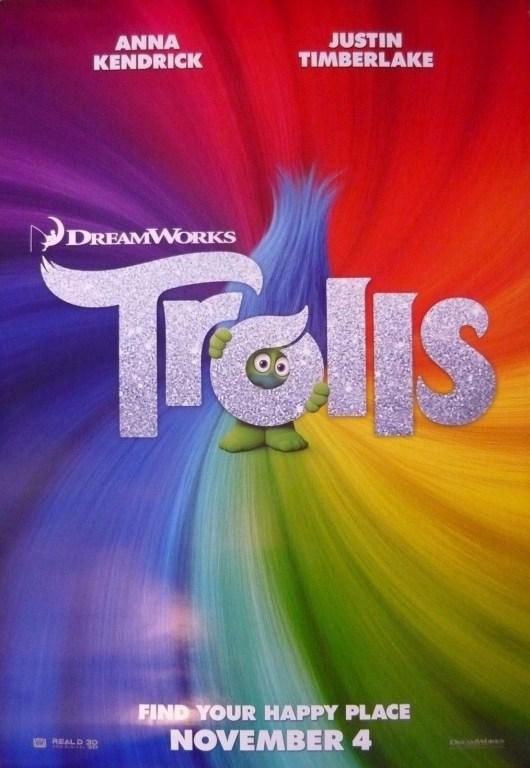 Nuevo teaser póster de 'Trolls' con Justin Timberlake y Anna Kendrick