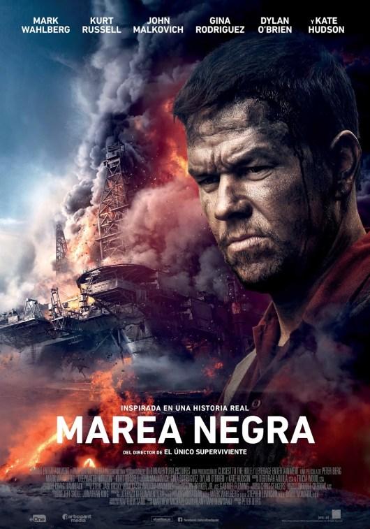 Póster final español de 'Marea negra' con Mark Wahlberg
