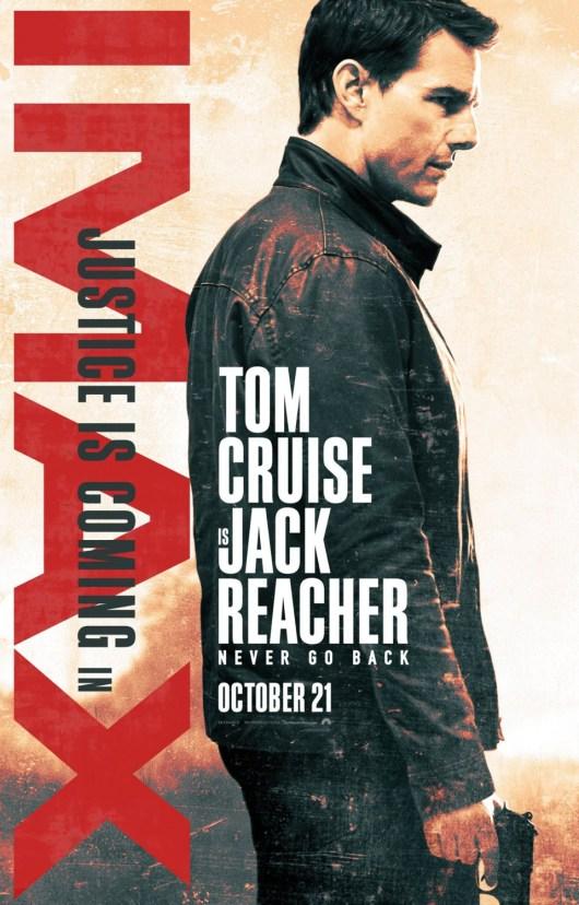 Nuevo póster IMAX de 'Jack Reacher: Nunca vuelvas atrás'