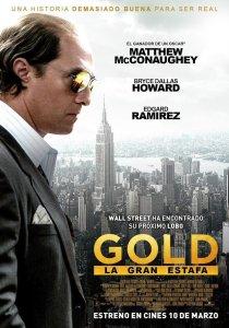 """Pósters de la película """"Gold, la gran estafa"""""""