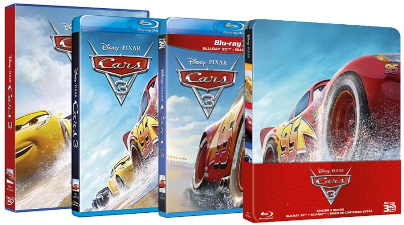 'Cars 3': Ya a la venta en DVD, Blu-ray, Blu-ray 3D y Steelbook