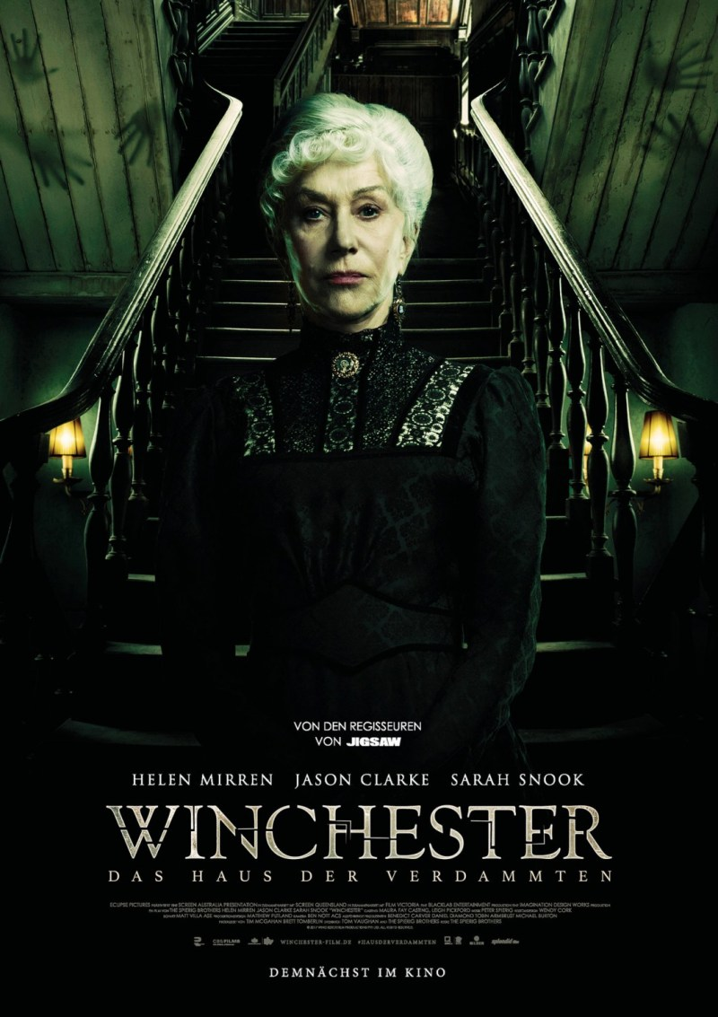 'Winchester': Nuevo póster alemán del thriller con Helen Mirren