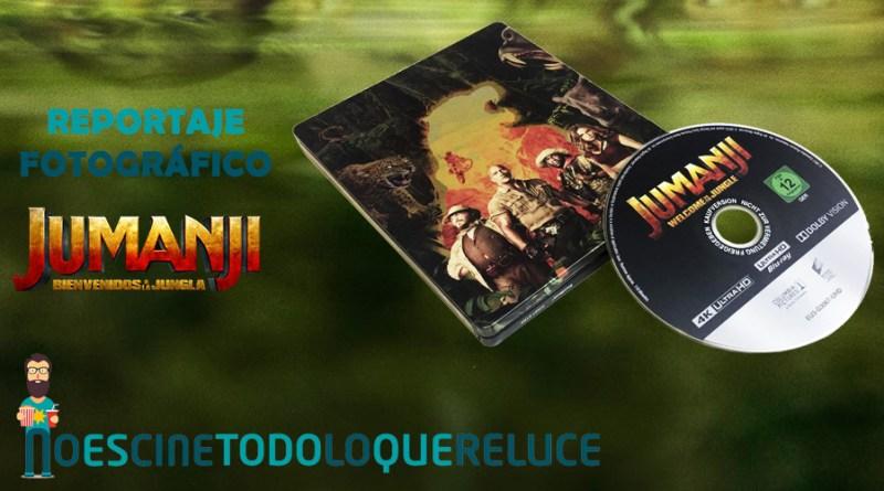 'Jumanji: Bienvenidos a la jungla': Reportaje fotográfico y análisis de la edición metálica (4K UHD Blu-ray)
