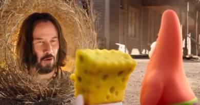 Keanu Reeves se deja ver en el teaser tráiler de 'Bob Esponja: Un héroe al rescate'