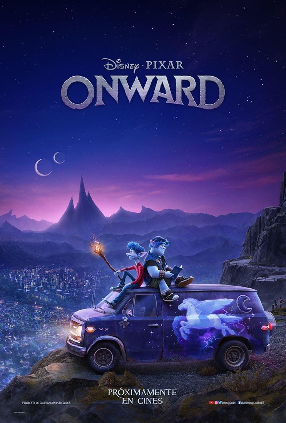 """Pósters de la película """"Onward"""""""