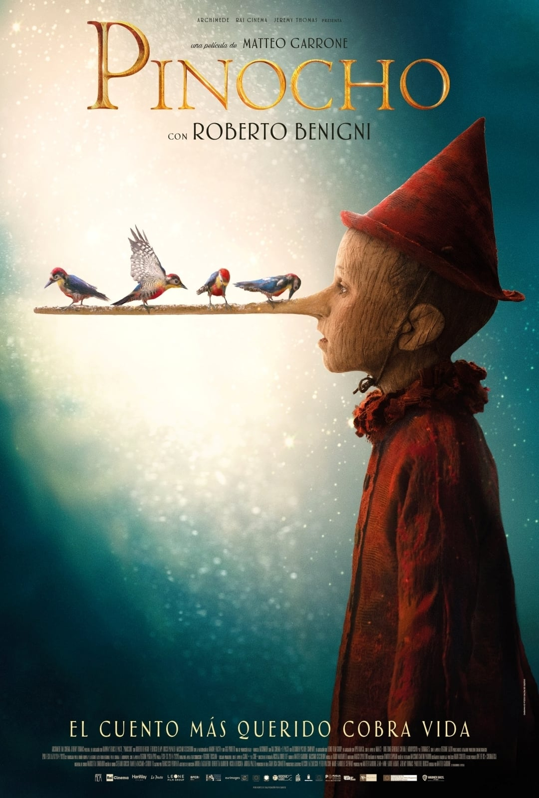 """Pósters de la película """"Pinocho"""""""