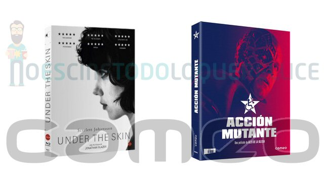 Lanzamientos de octubre en DVD y Blu-ray de Cameo: Under the skin y Acción mutante