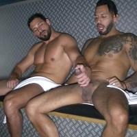 Enzo Rimenez y Viktor Rom dos machos en la sauna del gym | Enzo Rimenez