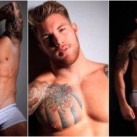 El musculoso y atractivo entrenador personal Philippe S posa en calzones | Male Model