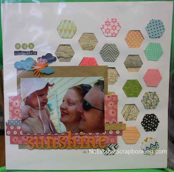 Page based on inspiration quilt || noexcusescrapbooking.com