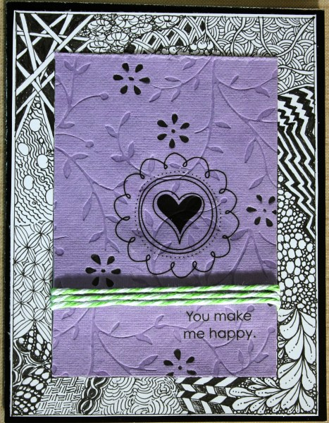 zentangled card