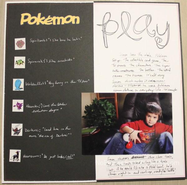 Pokemon Play || noexcusescrapbooking.com