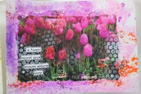 tulip photo transfer art || noexcusescrapbooking.com