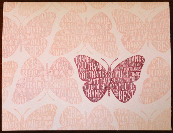 butterfly repetition card before || noexcusescrapbooking.com