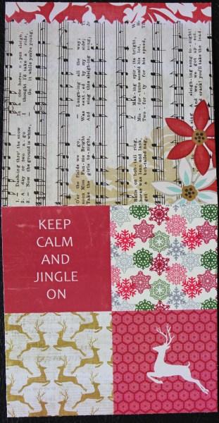 jingle card || noexcusescrapbooking.com