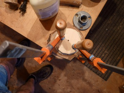 Gluing up a blank for turning a small bowl