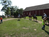 The horseback tour at Gettysburg