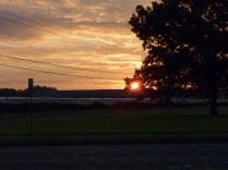 I drive by these fields early on my way to work and again on my return. Depending on the season, I get to see the sunrise.