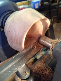 Bowl on lathe