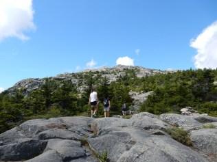 Palteau below summit
