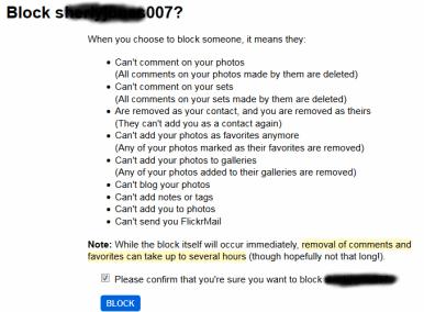 Flickr blocking