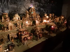 On display, about 50 Nativity scenes, all hand made by a wonderful man who explained many of the features to us.
