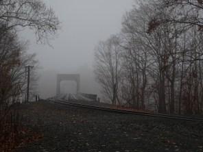 Railroad bridge over Connecticut River between Enfield and Windsor Locks.