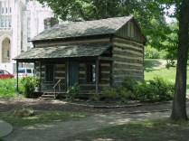 This was taken in 2009. The porch was added to the cabin when it was restored.