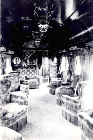 You could write about the glorious days of travel when trains were fit for kings.