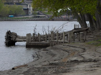 Great River Park was hit pretty hard. Lot's of mud and tree limbs.