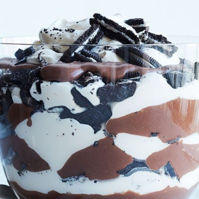 Chocolate Pudding and Cookie Trifle