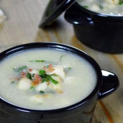 Brazilian Cream of Chayote Squash with Scallops