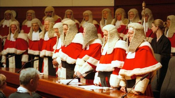Chief Justice of the Supreme Court, the Honourable Justice James Spigelman, second right,Source: The Daily Telegraph