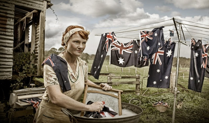 Emma Phillips' portrait of Pauline Hanson.