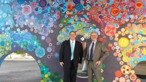 David Feeney with Reservoir West Primary School principal Bruce Kearney