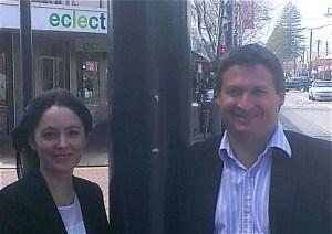Jackie Dettman with Liberal candidate Matt Williams