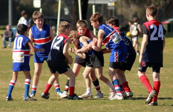 kids football in Wangaratta