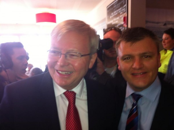 Darren Cheeseman and Kevin Rudd