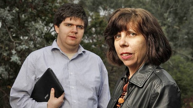 Rosie Williams and her son Brenton want better access to budget data for a budget-focussed website. Photo: Andrew Meares Fairfax