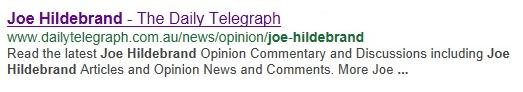 Joe Hildebrand google search