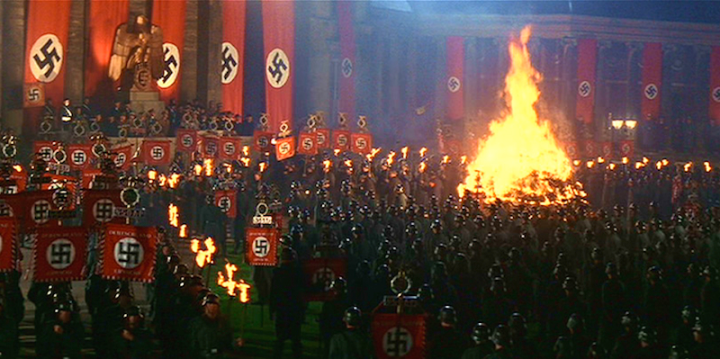 Book burning scene from Indiana Jones and the Last Crusade.