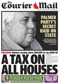 The Courier Mail, April 29, 2014. Allegations mad by LNP Michael Hart that he was offered an inducement to join PUP.
