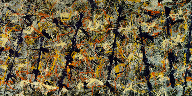 """NUmber 11, 1952"" (aka Blue Poles) by Jackson Pollock (National Gallery of Australia)."