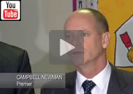 Ten News Qld: Campbell Newman announces the worlds largest Ronald McDonald House for Brisbane.
