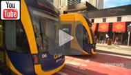 9 News Brisbane: The Bligh Government's tram system goes live.