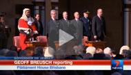7 News Brisbane: Governor Paul de Jersey is sworn in.