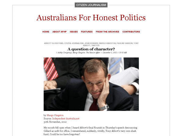 Australians For Honest Politics