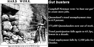 Gut busters - November Qld trend unemployment rises to 6.9pc