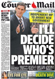 05/02/15 The Courier Mail - Independent MP to anoint new government - I'll Decide Who's Premier